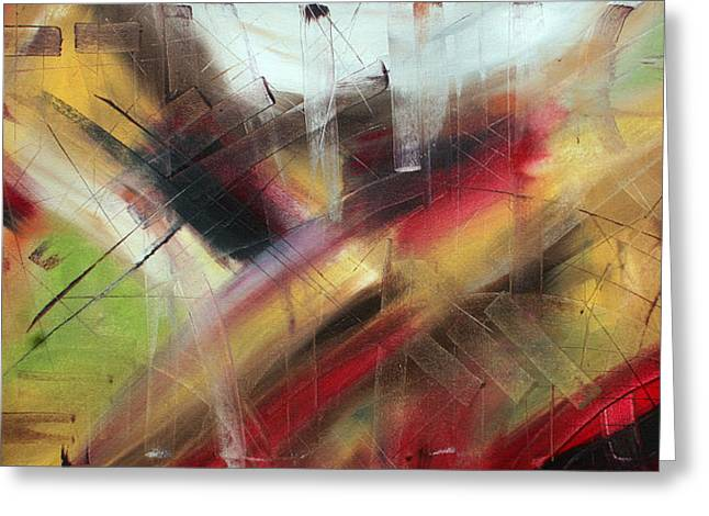 Licensor Greeting Cards - Scratching the Surface by MADART Greeting Card by Megan Duncanson