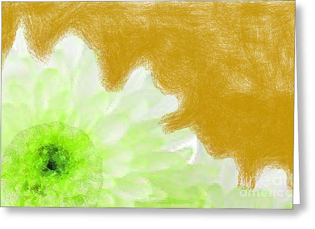Discrimination Digital Art Greeting Cards - Scream and Shout Green White Brown Greeting Card by Holley Jacobs
