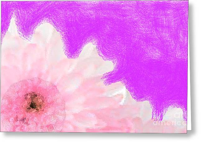 Discrimination Digital Art Greeting Cards - Scream and Shout Pink White Purple Greeting Card by Holley Jacobs