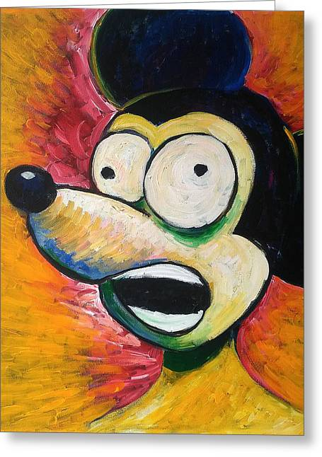 Mouse Greeting Cards - Scream Greeting Card by Erki Schotter