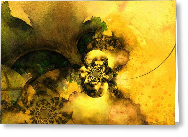 Abstract Digital Paintings Greeting Cards - Scream of Nature Greeting Card by Miki De Goodaboom