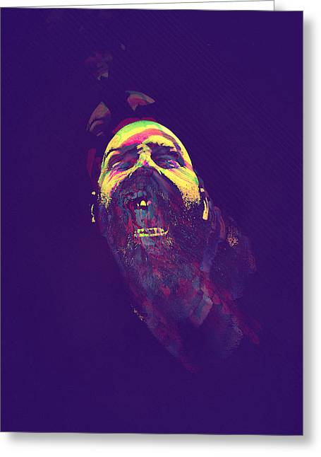 Scream Greeting Card by Paul Large