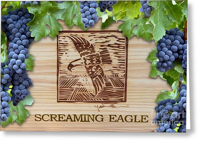 Wine Cork Greeting Cards - Screaming Eagle Greeting Card by Jon Neidert