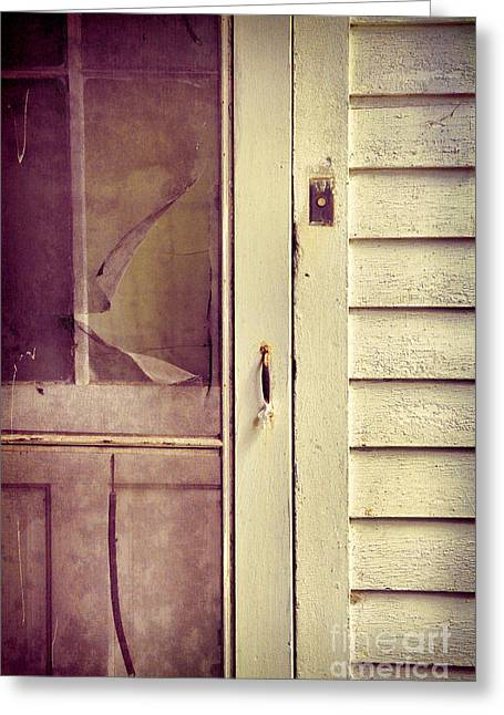 Screen Doors Greeting Cards - Screen Door Greeting Card by Jill Battaglia