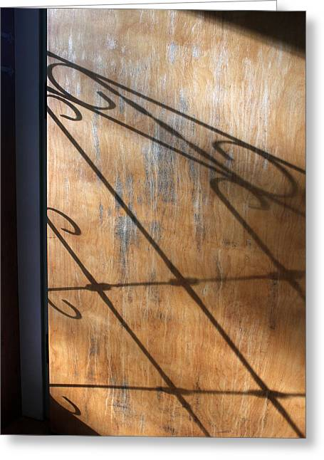 Screen Doors Greeting Cards - Screen Door Shadow Greeting Card by Mary Bedy