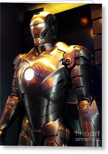 Movie Prop Greeting Cards - Screen used Iron Man costume 3 Greeting Card by Micah May