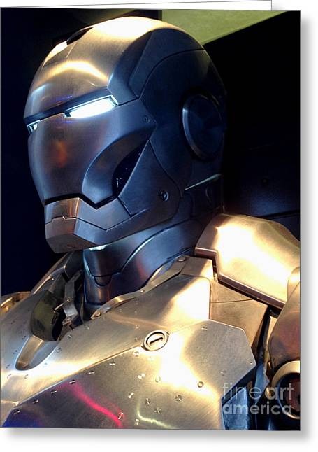 Movie Prop Greeting Cards - Screen used Iron Man costume 4 Greeting Card by Micah May
