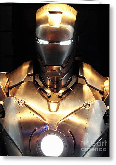 Movie Prop Greeting Cards - Screen used Iron Man costume 5 Greeting Card by Micah May
