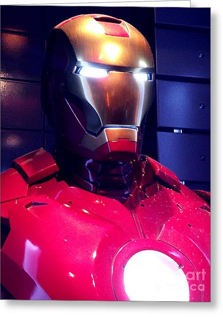 Movie Prop Photographs Greeting Cards - Screen used Iron Man costume 6 Greeting Card by Micah May