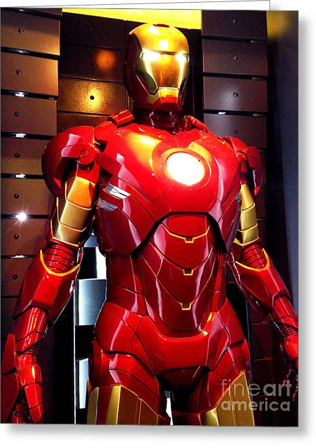 Movie Prop Photographs Greeting Cards - Screen used Iron Man costume 7 Greeting Card by Micah May