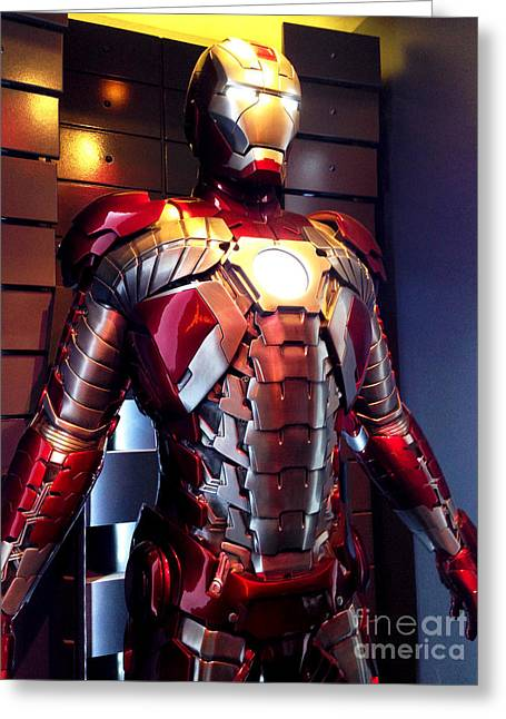 Movie Prop Photographs Greeting Cards - Screen used Iron Man costume 8 Greeting Card by Micah May