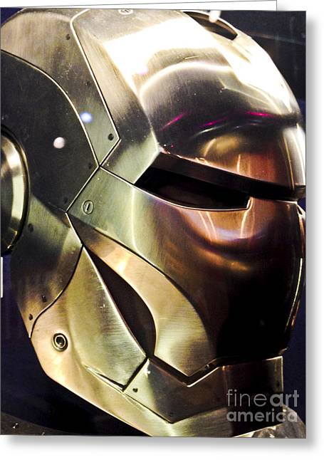 Movie Prop Photographs Greeting Cards - Screen used Iron Man costume 9 Greeting Card by Micah May