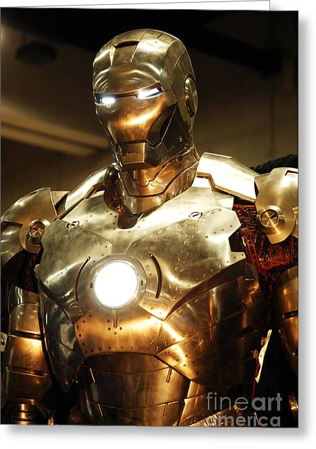 Movie Prop Photographs Greeting Cards - Screen used Iron Man costume 1 Greeting Card by Micah May