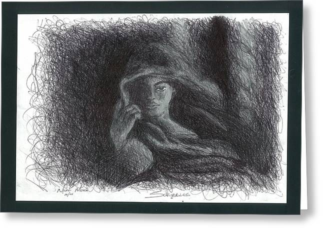 Hoodies Drawings Greeting Cards - Scribbles Greeting Card by Uncle Derricks Artworks