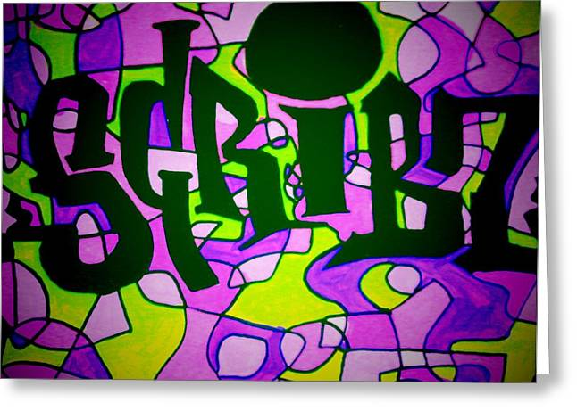 Nyc Winter 2 Greeting Cards - Scribz Nyc Funktified Greeting Card by Rick Burgunder
