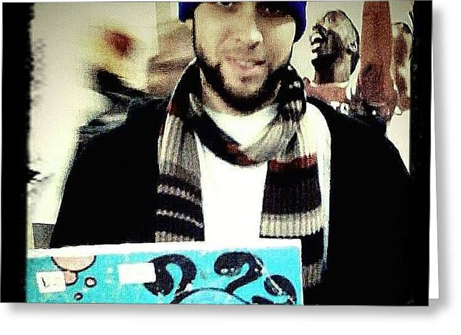 Surf City Greeting Cards - Scribz Nyc Greeting Card by Rick Burgunder