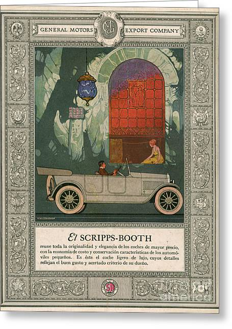 American Automobiles Greeting Cards - Scripps Booth 1920 1920s Usa Cc Cars Greeting Card by The Advertising Archives