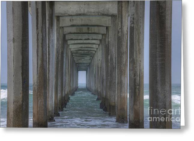 Photos Of The Ocean Greeting Cards - Scripps Pier La Jolla California 3 Greeting Card by Bob Christopher