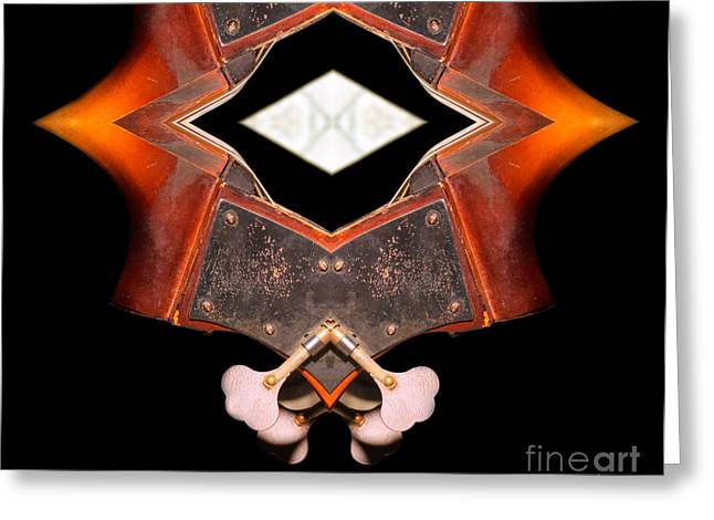 Geometric Design Greeting Cards - Scroll in Double Bass Abstract  Greeting Card by Steven  Digman