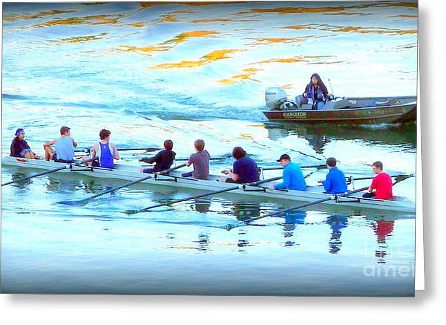 Scull Greeting Cards Greeting Cards - Scull Rowers  Greeting Card by Susan Garren