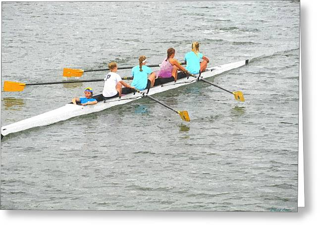 Sculling Team On Palm River  Greeting Card by Buzz  Coe