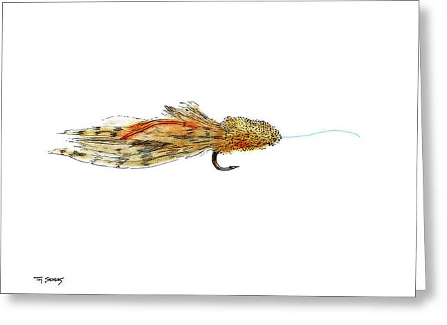 Trout Fishing Pastels Greeting Cards - Sculpin Fly Greeting Card by Tim Shoales