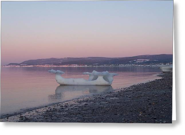 Surf City Greeting Cards - Viking Ship going out to Sea Greeting Card by Dan Comeau
