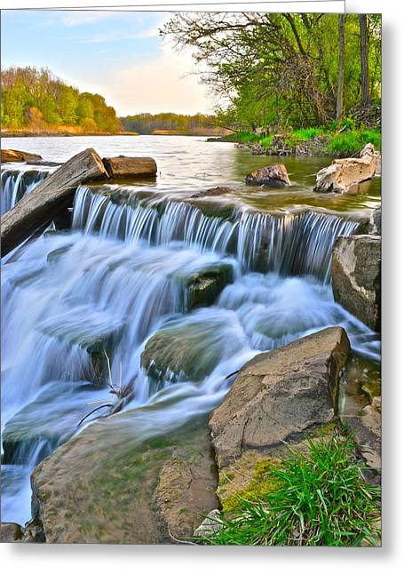 Sculpted Falls Greeting Card by Frozen in Time Fine Art Photography