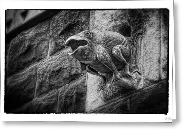 Sculpted Frog - Art Unexpected Greeting Card by Tom Mc Nemar