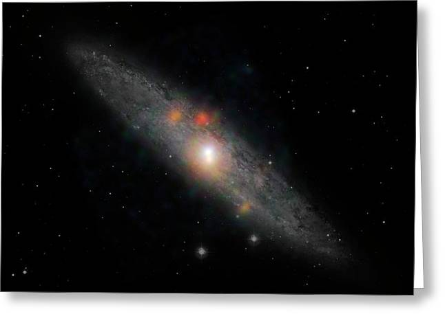 Sculptor Galaxy Greeting Card by Nasa/jpl-caltech/jhu