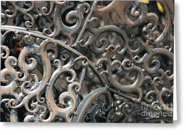 Welded Sculpture Greeting Cards - Sculpture Detail  Greeting Card by Barbara Bardzik