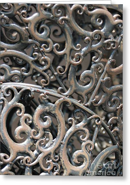 Southwick Greeting Cards - Sculpture Detail Vertical Greeting Card by Barbara Bardzik