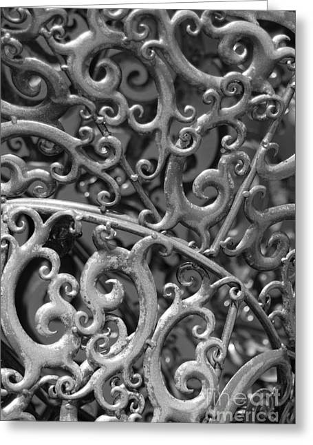 Southwick Greeting Cards - Sculpture Detail Vertical BW Greeting Card by Barbara Bardzik