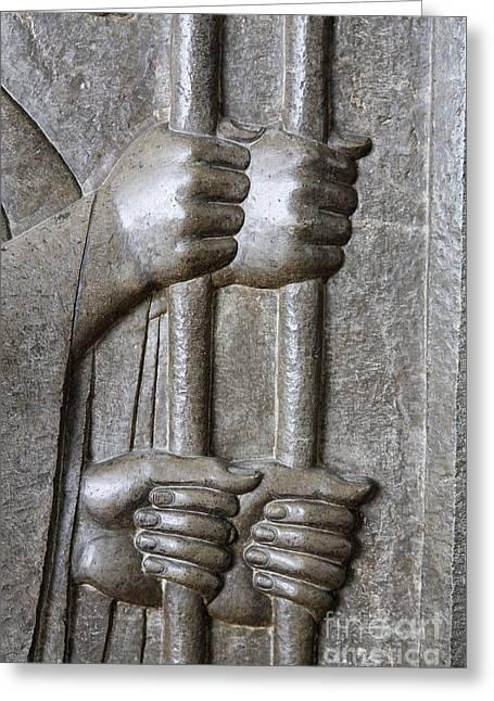 Tehran Greeting Cards - Sculpture from Persepolis in Iran Greeting Card by Robert Preston