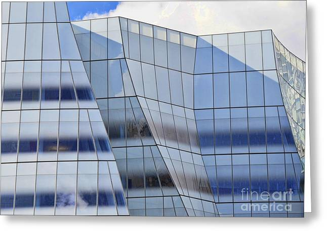 Office Space Greeting Cards - Sculpture or Building or Both Greeting Card by Allen Beatty