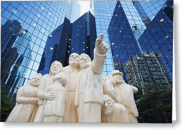 Window Of Life Greeting Cards - Sculpture The Illuminated Crowd Greeting Card by Carl Bruemmer