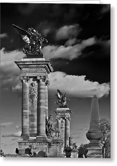 Sculptures Of Paris Greeting Card by Mountain Dreams