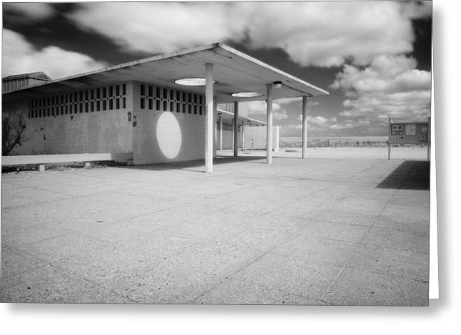 Scusset Beach. Greeting Cards - Scusset Building Greeting Card by David DeCenzo