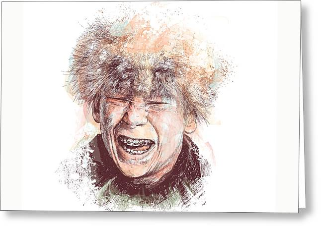 Bully Mixed Media Greeting Cards - Scut Farkus Greeting Card by Chad Lonius