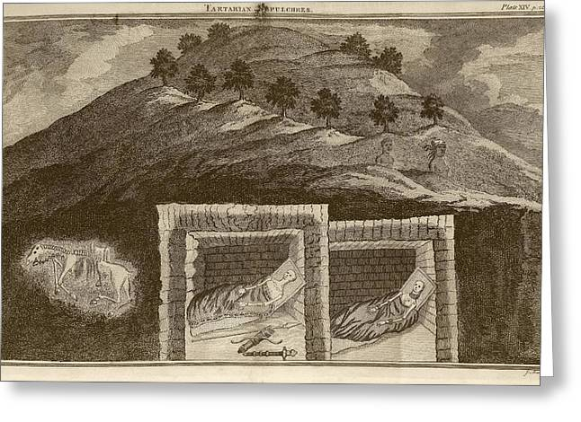 Scythian Burial Mounds Greeting Card by Middle Temple Library