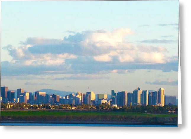 Dorsett Greeting Cards - S.D. Skyline from a distance Greeting Card by William  Dorsett