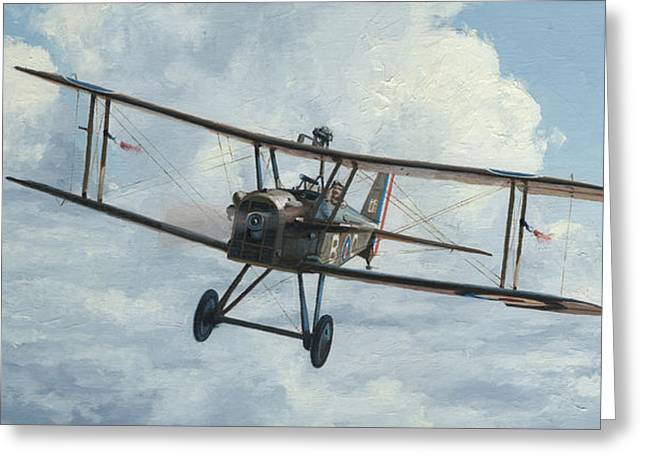 Fighter Star Fighter Greeting Cards - SE5a 1918 Greeting Card by Wade Meyers