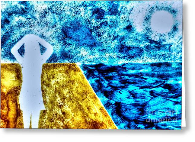 Bred Mixed Media Greeting Cards - Sea And My Dear Greeting Card by Yury Bashkin