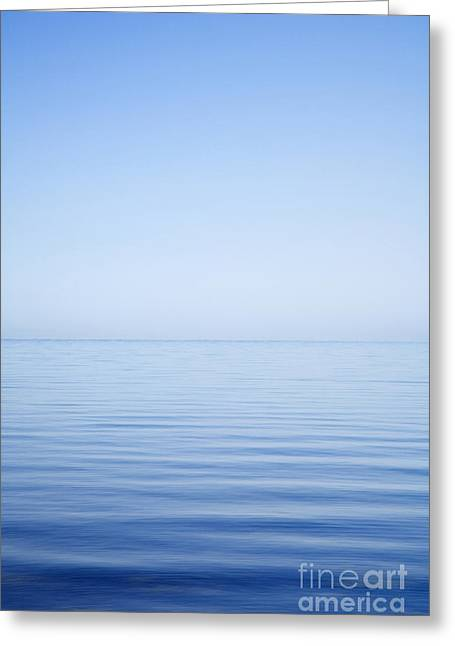 Background Greeting Cards - Sea and Sky  Very Calm Greeting Card by Colin and Linda McKie