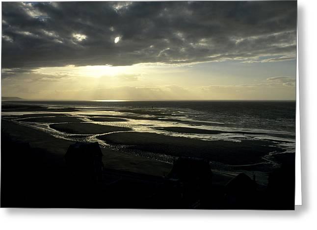 Sea and stormy sky Greeting Card by BERNARD JAUBERT