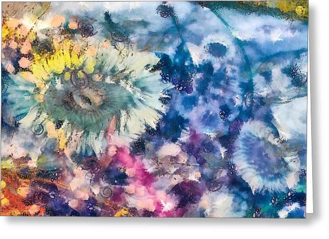 Sea Anemone Garden Greeting Card by Priya Ghose
