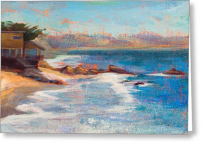 Beach House Paintings Greeting Cards - Sea Breeze Greeting Card by Athena  Mantle
