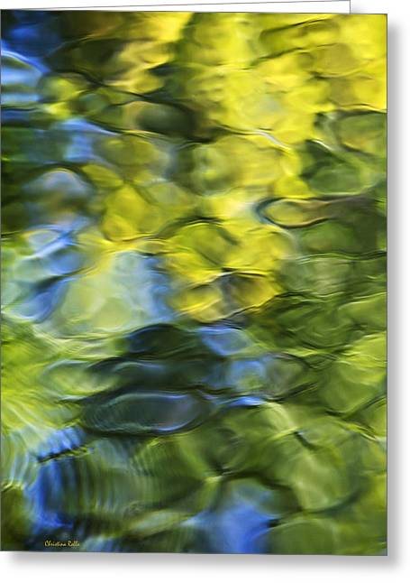 Abstract Reflections Greeting Cards - Sea Breeze Mosaic Abstract Art Greeting Card by Christina Rollo