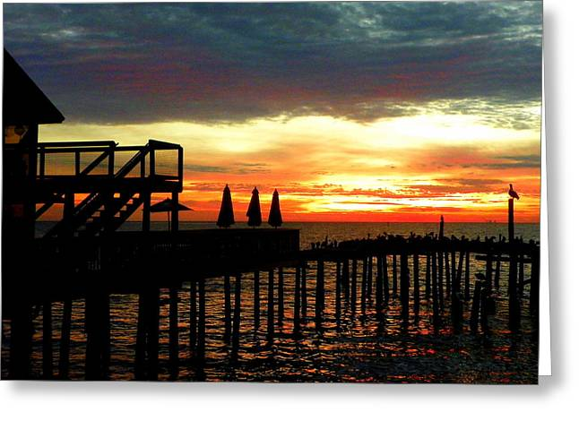 Cedar Key Greeting Cards - Sea Breeze Sunrise Greeting Card by Sheri McLeroy