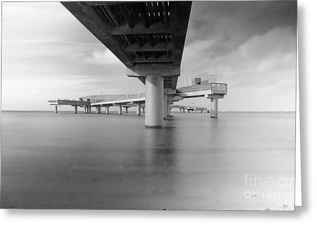 Longtime Exposure Greeting Cards - Sea bridge Greeting Card by Andreas Berheide